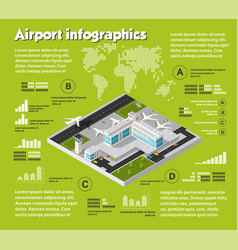 Air travel infographic vector