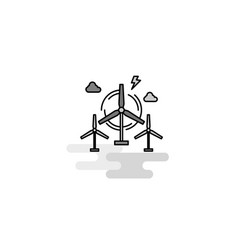 air turbine web icon flat line filled gray icon vector image