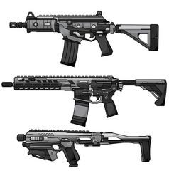 Airsoft gun design vector