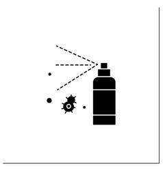 Antibacterial spray glyph icon vector