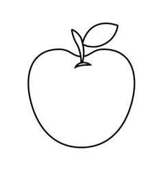 apple fresh fruit isolated icon design vector image