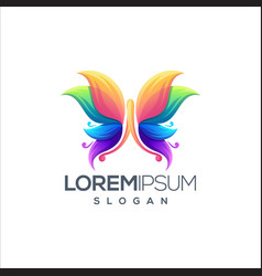 awesome butterfly logo design design vector image