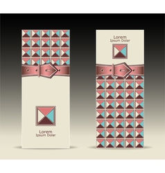Banners or with strap buckle geometric pattern ret vector