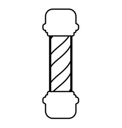 barber shop pole icon black color flat style vector image