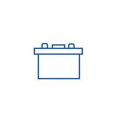 battery auto line icon concept battery auto flat vector image