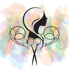 beauty salon for women symbol vector image