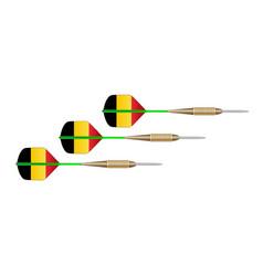 Belgium flag dart set vector