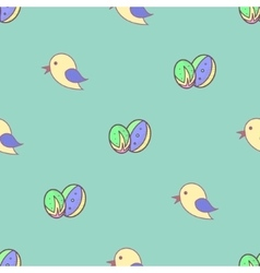 Bird Easter eggs seamless background vector