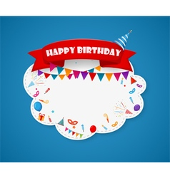 Birthday party design with cloud shape vector