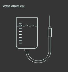 Blood bag icon line element vector