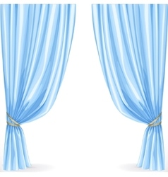 Blue curtain isolated on a white background vector