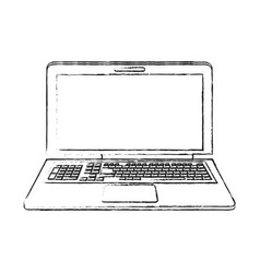 blurred silhouette image laptop computer tech vector image