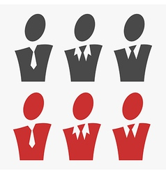Business avatar set vector