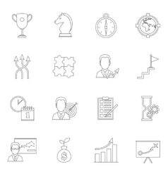 Business strategy planning icon outline vector