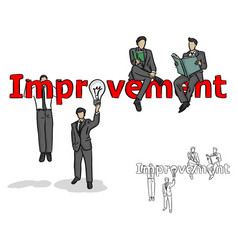 businessman making improvement vector image