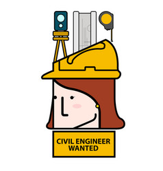 Civil engineer wanted avatar image vector