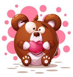 cute crazy bear - cartoon vector image