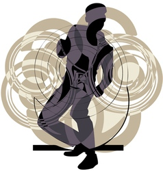 Dancing man vector