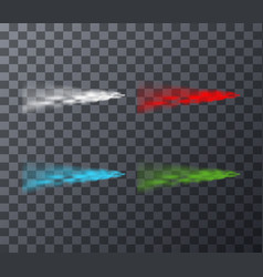 Different colored smoke lines vector