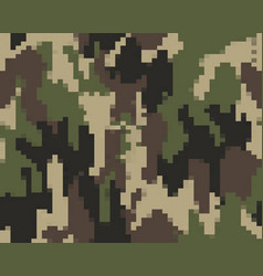 Digital seamless camouflage pattern vector
