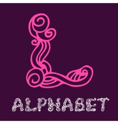 Doodle hand drawn sketch alphabet letter l vector