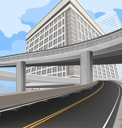 Elevated road vector