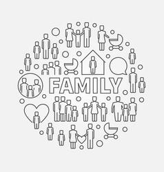 family minimal round vector image