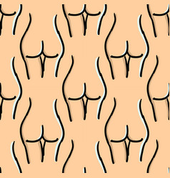 female body seamless pattern in healthy vector image