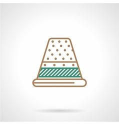 Flat line icon for sewing Thimble vector