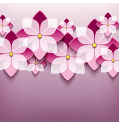 Floral trendy background with 3d flower sakura vector