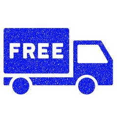 Free delivery grunge icon vector