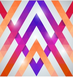 Geometric shining pattern with triangles vector