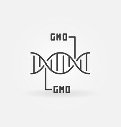 gmo dna concept icon in thin line style vector image