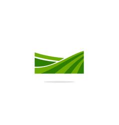 Green landscape grass logo vector