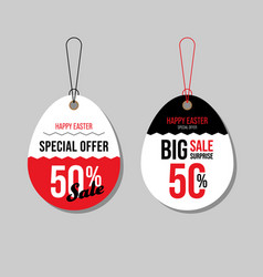 Happy easter sale promotion and special offer vector