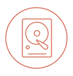 Hard disk line icon vector