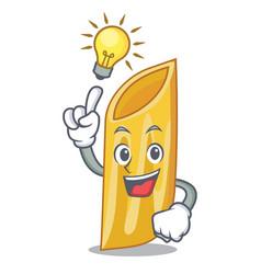 Have an idea penne pasta character cartoon vector