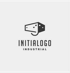 Initial letter j real estate logo design vector