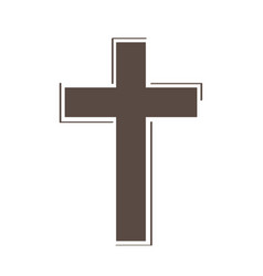 isolated cross icon with border vector image