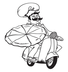 Italian pizza delivery2 resize vector image