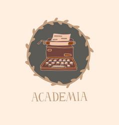 Light academia concept vintage typewriter vector
