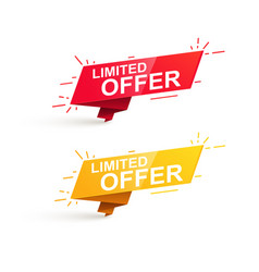 limited offer sale promotion banner vector image