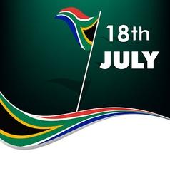 Nelson Mandela Day vector