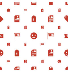 offer icons pattern seamless white background vector image