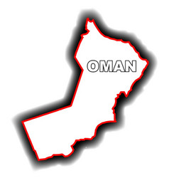Outline map of oman vector