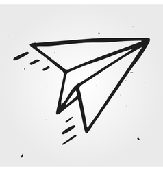 paper airplane isolated hand drawn vector image