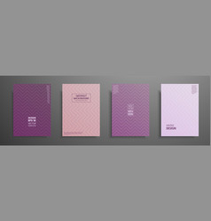 Pastel covers design set modern covers template vector