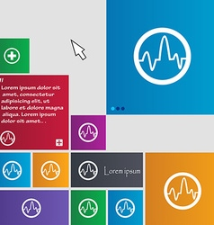 Pulse Icon sign buttons Modern interface website vector