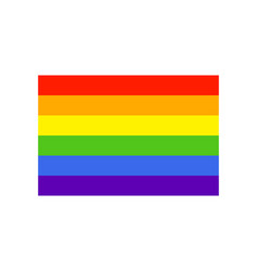 Rainbow flag icon simple flat style no effects vector