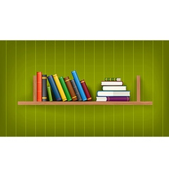 Row and stack of colorful books vector